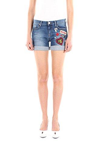 1J100GY1AUG28-Pinko-Shorts-Femme-Coton-Bleu