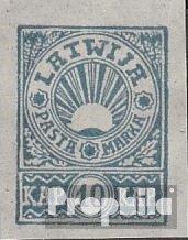 Lettland 24B (kompl.Ausg.) ohne Gummierung wie verausgabt ungebraucht 1919 Freimarke (Briefmarken für Sammler)