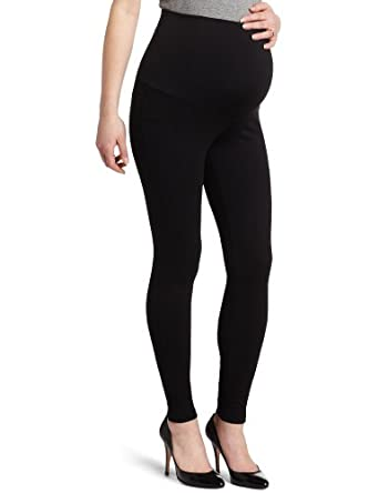 Maternal America Women's Maternity Belly Support Leggings, Black, X-Small