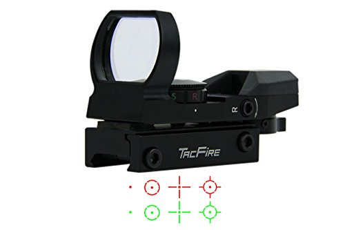Learn More About TacFire Holographic Red and Green Dot Sight Tactical Reflex 4 Different Reticles