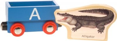 Wooden Alphabet Train : A (Alligator) - Buy Wooden Alphabet Train : A (Alligator) - Purchase Wooden Alphabet Train : A (Alligator) (Wild Republic, Toys & Games,Categories,Play Vehicles,Trains & Railway Sets)