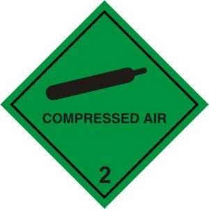 Smarts-Art Warning Sign Compressed Air Magnetic Sign 100Mm X 100Mm