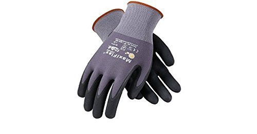 Maxiflex 34-874 Ultimate Gloves, Large, 12 Piece (Color: Black / Gray, Tamaño: Large)