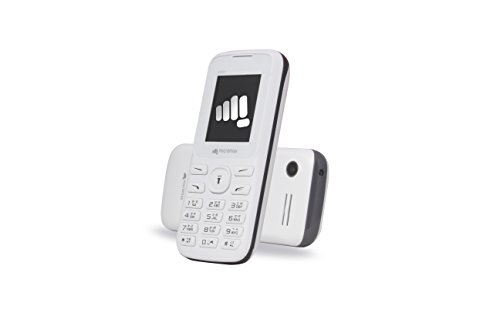 """Micromax X791 White (Dual Sim, 2.4"""" Screen With 4000 MAh BIG Battery & Voice Call Recording)"""