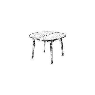 Round Extension Dining Table Plan (Woodworking Project Paper Plan)