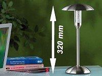 Lunartec LED-Tischlampe aus gebürstetem