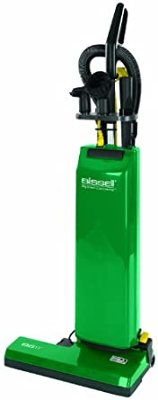 """BISSELL BigGreen Commercial Bagged Upright Vacuum, 5.83L Bag Capacity, 18"""" Cleaning Path, Green"""