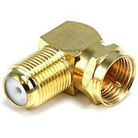 Monoprice 6775 F Type Right Angle Female to Male Adapter - Gold Plated (F Type compare prices)