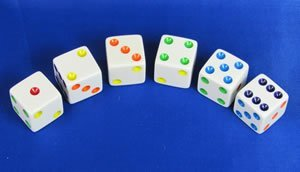 16mm White with Multi Colored Spots Opaque D6