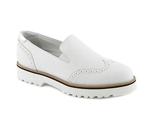 Mocassini Hogan donna in pelle bianco e particolari argento - Codice modello: HXW2590R3303XO0351 - Taglia: 41 IT