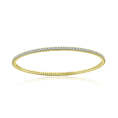 Sterling Silver Simulated Diamond Bangle-2.25ct
