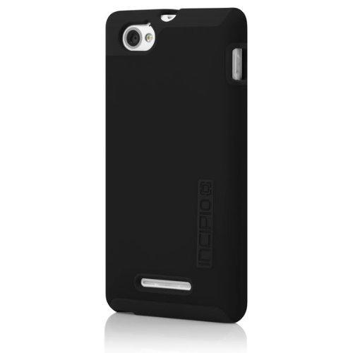 Incipio DualPro Case for Sony Xperia M – Carrying Case – Retail Packaging – Black/Black