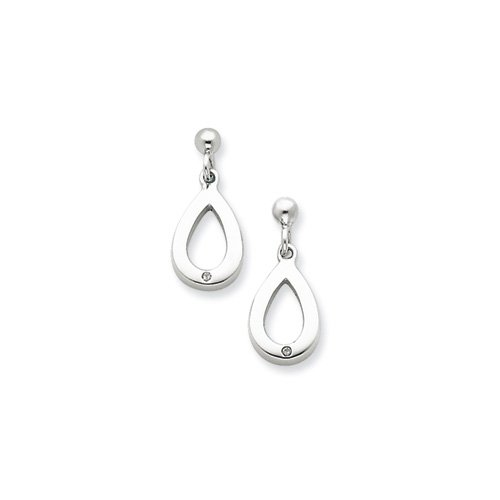 SS White Ice .01ct. Diamond Earrings