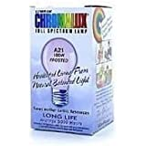 Chromalux Light Bulb Frosted Full Spectrum (100 Watt) 1 Count