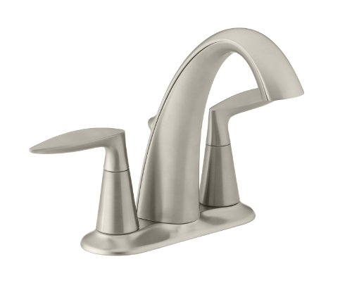 KOHLER K-45100-4-BN Alteo Centerset Lavatory Faucet, Vibrant Brushed Nickel (Kohler Bathroom Faucet Nickel compare prices)