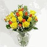 お見舞いのバラの花束 5本【生花】【お祝い】記念日】【誕生日】【フラワーギフト】【バラ】