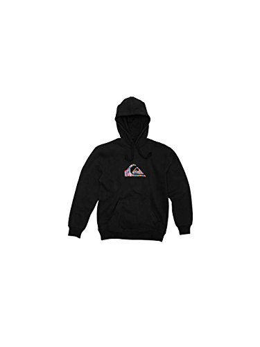 Quiksilver-Felpa con cappuccio, INTERNATIONAL HOOD, colore: nero nero Small