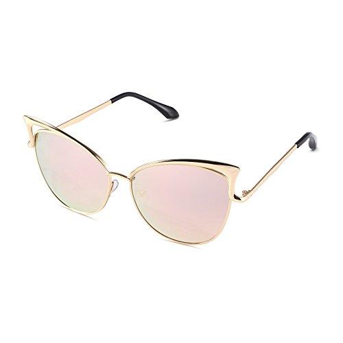 Pession Women's Fashion Flash Mirror Vintage Cat Eye Sunglasses (Vintage Sunglasses Cateye compare prices)