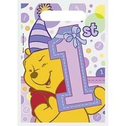 Pooh's 1st Birthday Girl Treat Sacks 8ct