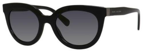 Marc Jacobs Sunglasses Women'S Thick Frame Sunglasses, Black/Grey Gradient, One Size