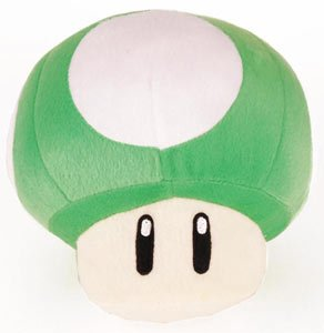 Picture of Popco Super Mario Brothers 10 Inch Green Mushroom Plush Figure (B0058EVJXA) (Popco Action Figures)