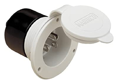 ParkPower 150BBIWRV 15 Amp White Power Inlet