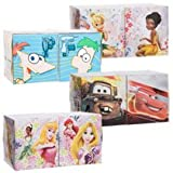 Disney Mini Boxes Facial Tissues 2-Pack, Assorted Characters Cars Princesses Fairies Phineas and Ferb