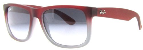 Ray Ban RB4165 Justin Sunglasses-856/11 Rubber Red/Gray (Gray Grad Lens)-55mm