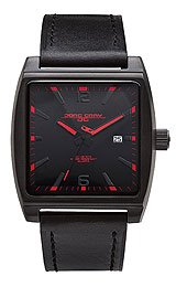 Jorg Gray Leather Black Dial Men's watch #JG5200-19