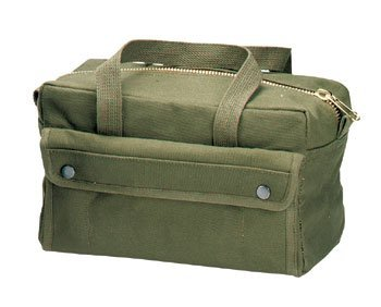 Rothco G.I. Brass Zipper Mechanics Tool Bag - Olive