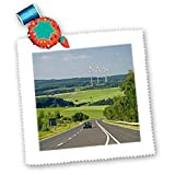 Electricity generators, cars, Energy, Germany - EU10 DFR0133 - David R. Frazier - 8x8 Inch Quilt Square