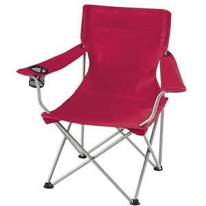 Red Folding Ozark Trail Deluxe Arm Chair w/ Drink Holder