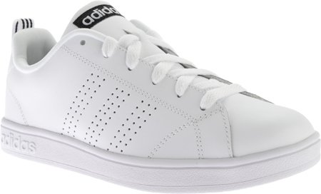 Adidas NEO Women's Advantage Clean VS W Casual Sneaker,White/White/Black,10 M US