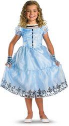 Wmu - Alice Blue Dress Child Deluxe Costume- Size 4-6X