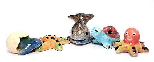 Aquatic Animals Ceramic Mini Animals Dollhouse Miniatures Figurine set 5 pcs. (Axis And Allies Starter Kit compare prices)