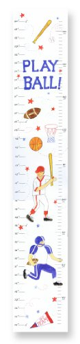 The Kids Room by Stupell Play Ball Multi-Sport Growth Chart - 1