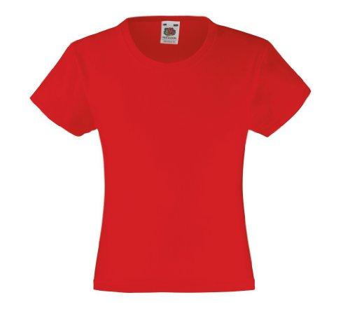 T-Shirt 'Girls Value Weight T', Farbe:Red;Größe:164 cm 164cm,Red
