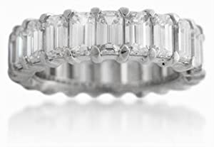 Diamond & Platinum Eternity Wedding Band Ring (5.88ct)