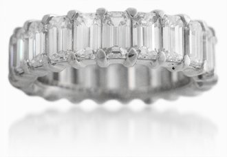 Diamond & Platinum Eternity Wedding Band Ring