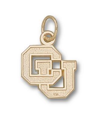 Colorado Buffaloes CU 1 2 Charm - 14KT Gold Jewelry by Logo Art