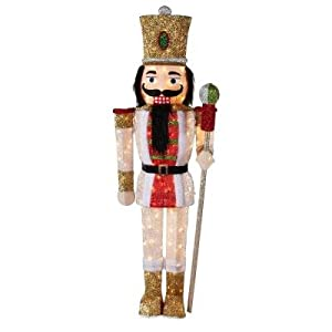 """Amazon.com: KNLSTORE Set of Two 44"""" Christmas Decor ...   Lighted Nutcracker Soldier"""