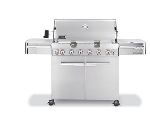 Weber 1780001 Summit S-650 Propane Grill, Stainless Steel