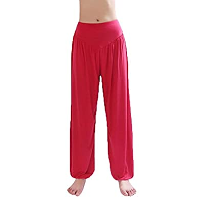 Super Soft Modal Spandex Harem Women Yoga pant Dancing Trouser Loose overall Wide