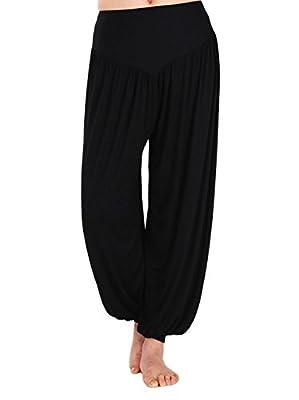 ZKCostume Womens Modal Soft Elastic Waistband Fitness Yoga Harem Pants