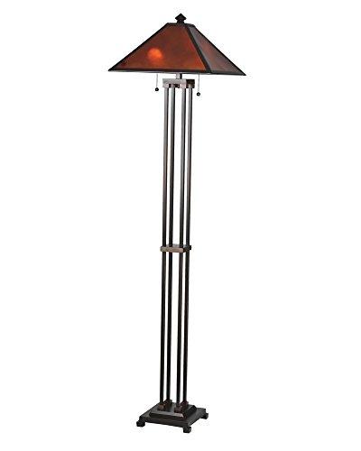 """Meyda Home Indoor Bedroom Decorative 62""""H Van Erp Amber Mica Floor Lamp"""