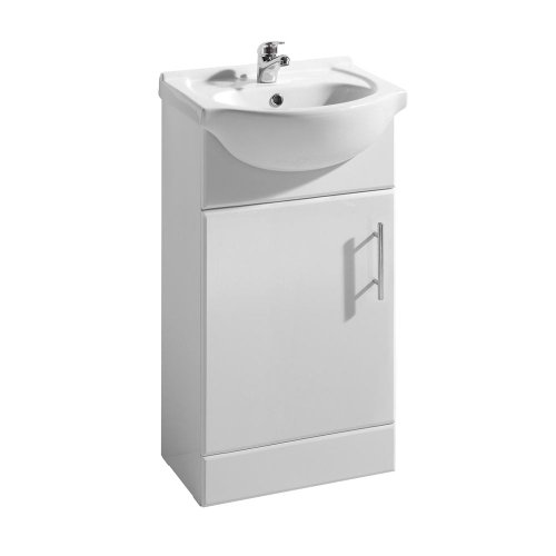 450W white gloss 450mm bathroom vanity cabinet