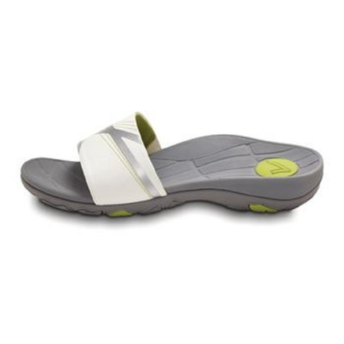 Vionic Sprint Women'S Sandal, White/Citron Size Women'S 10