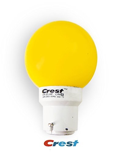 Crest 0.5W Yellow LED Bulbs (Pack Of 3)