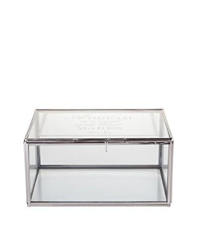 Lene Bjerre Medium Bea Box, Glass/Silver