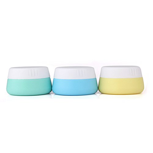 Mudder Silicone Cosmetic Containers Cream Jar with Sealed Lids (20 ml, 3 Pieces) (Liquid Jar compare prices)